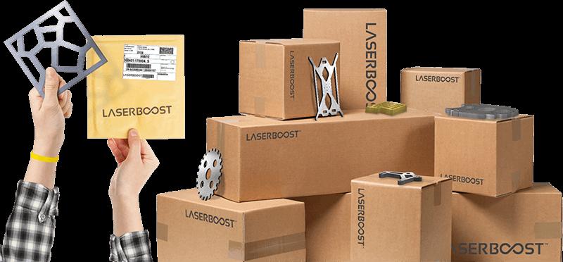 cajas con productos de laserboost