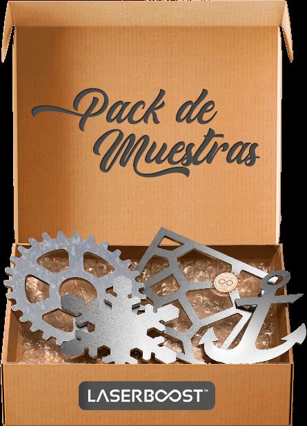 pack de muestras caja