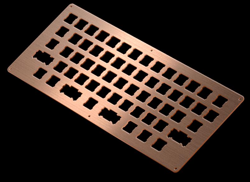 copper brushed keyboard
