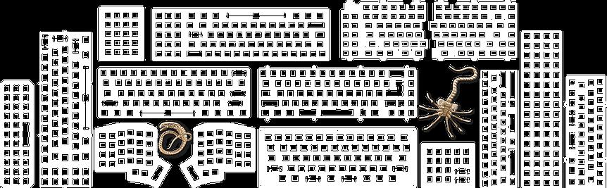 keyboard Laser Cut Specimnes